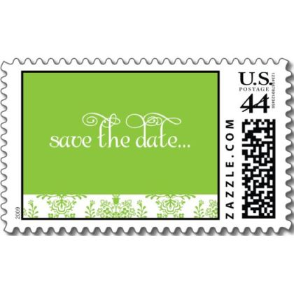save_the_date_green_damask_wedding_postage_stamp-p172775920223173089anr3b_5251
